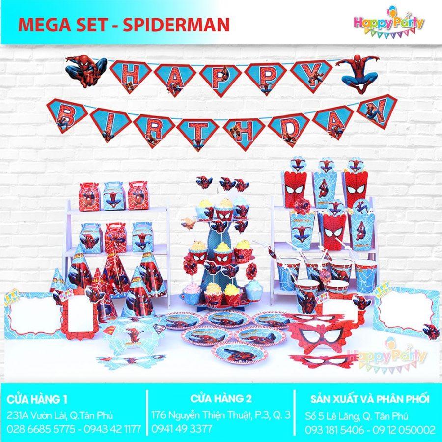 Phụ kiện trang trí sinh nhật chủ đề SPIDERMAN