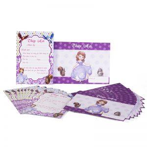 Thiệp Sinh nhật chủ đề công chúa Sofina