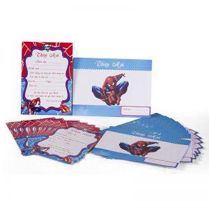 Thiệp Sinh nhật chủ đề Spider
