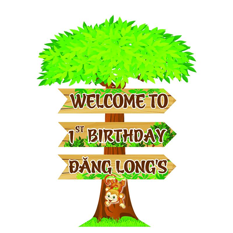 Cây Welcome chủ đề rừng xanh
