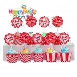 tem-cam-banh-cupcake-mau- do happyparty.vn