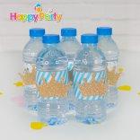 Happyparty.vn Hộp quà sinh nhật Set xanh dương Gold Kim Tuyến