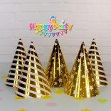 Set Gold ép kim nón giấy sinh nhật happyparty.vn