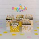 Set Gold ép kim hộp đựng quà sinh nhật happyparty.vn