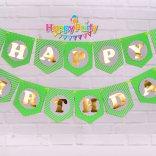 Set Xanh là gold Ép Kim Dây treo sinh nhật happyparty.vn