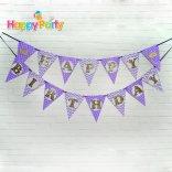 tím gold kim tuyến day treo sinh nhật happyparty.vn