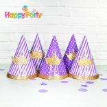 tím gold kim tuyến nón giấy sinh nhật  happyparty.vn