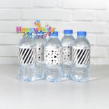 Set silver ép kim giấy dán chai nước happyparty.vn