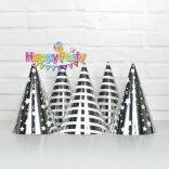 Set silver ép kim nón giấy sinh nhật happyparty.vn