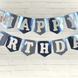 Set xanh dương ép kim dây treo sinh nhật  happyparty.vn