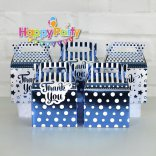 Set xanh dương ép kim hộp đựng quà sinh nhật  happyparty.vn