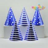 set tím ép kim nón giấy sinh nhật happyparty.vn