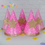 Hồng Gold Ép Kim Tuyến Happyparty.vn Nón giấy sinh nhật