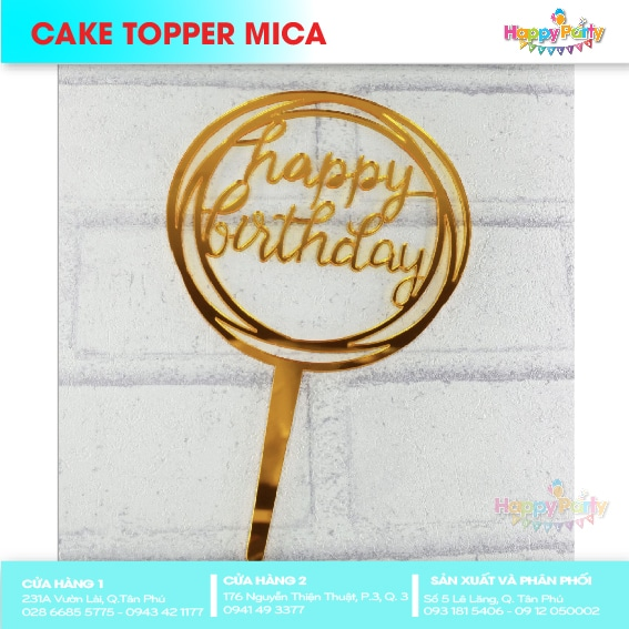 CAKE TOPPER MICA 16