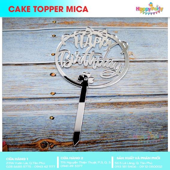 CAKE TOPPER MICA 19