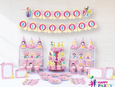 Phụ kiện trang trí sinh nhật chủ đề CÔNG CHÚA DISNEY