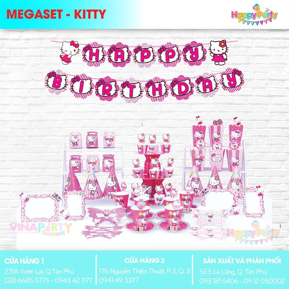 Phụ kiện trang trí sinh nhật chủ đề KITTY