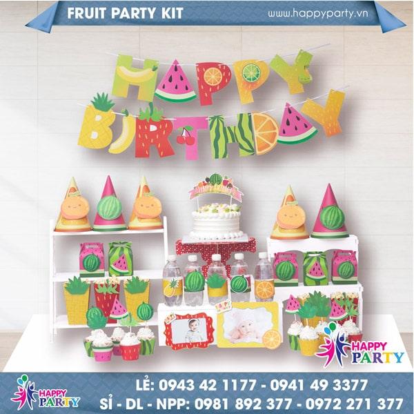 Phụ kiện trang trí sinh nhật FRUIT PARTY KIT