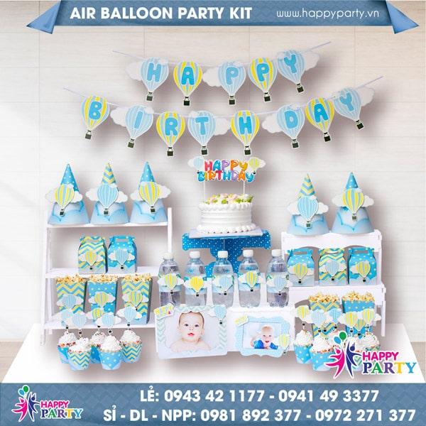 Phụ kiện trang trí sinh nhật AIR BALLOON PARTY KIT