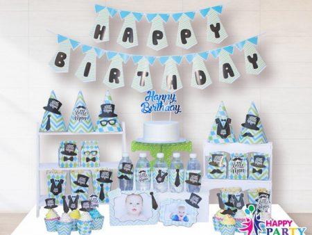 Phụ kiện trang trí sinh nhật LITTE MAN PARTY KIT