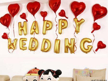 "BÓNG CHỮ ""HAPPY WEDDING"""