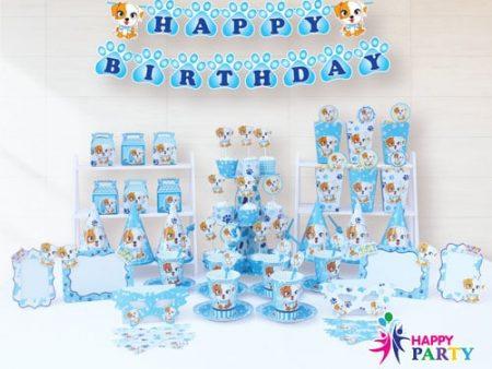 Phụ kiện trang trí sinh nhật chủ đề CHÓ XANH