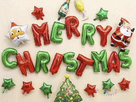 BỘ BÓNG CHỮ MERRY CHRISTMAS