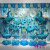 Mẫu trang trí bóng sinh nhật cho bé ngựa xanh