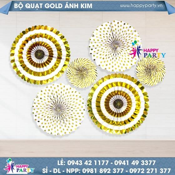 Bộ Quạt Giấy - Gold Ánh Kim