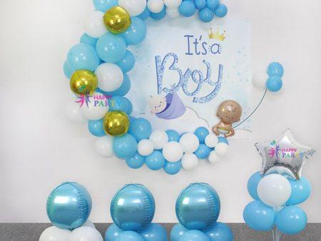 Combo Trang Trí Backdrop Baby Boy - Đêm Trăng Tình Thương