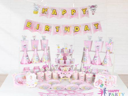 MEGA SET CHUỘT HỒNG - HAPPY BIRTHDAY