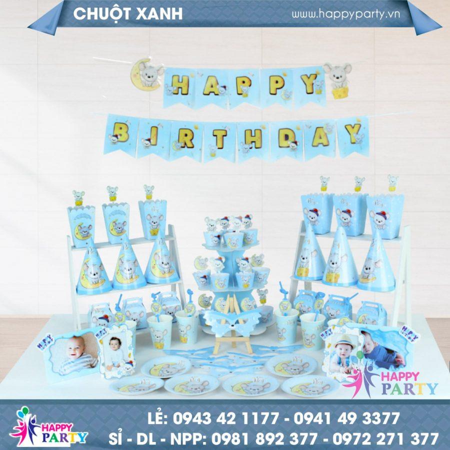 MEGA SET CHUỘT XANH - HAPPY BIRTHDAY