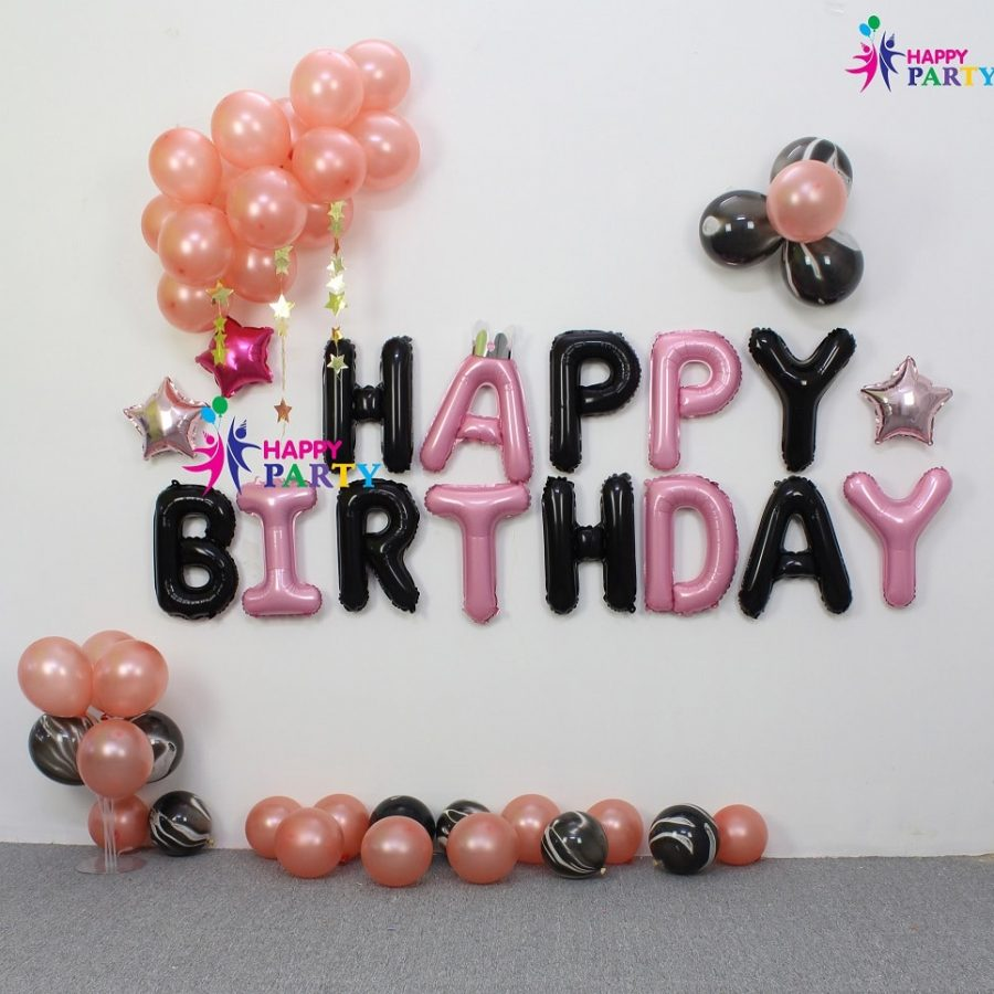 Set Trang Trí Tường Happy Birthday - Background Happy Birthday
