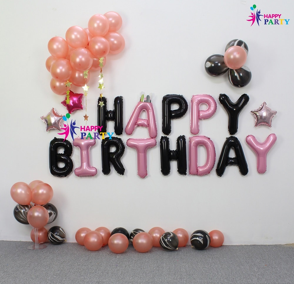 Set Trang Trí Tường Happy Birthday - Background Happy Birthday