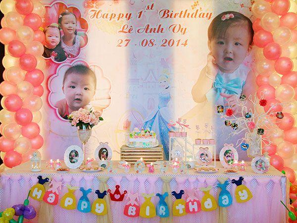 Trang trí sinh nhật cho bé gái