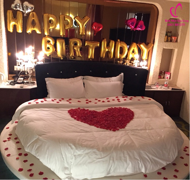 Một cách trang trí sinh nhật cho người yêu thật lãng mạng
