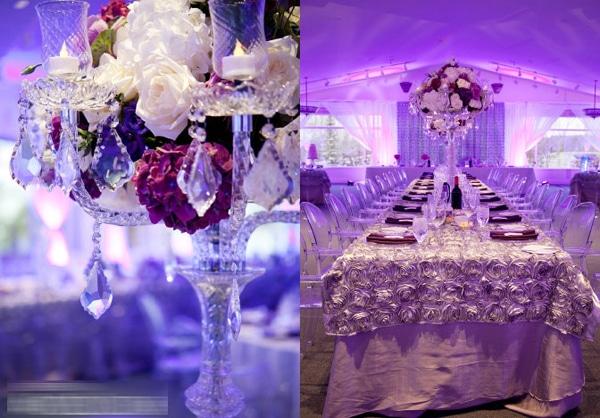 Trang trí đám cưới màu tím