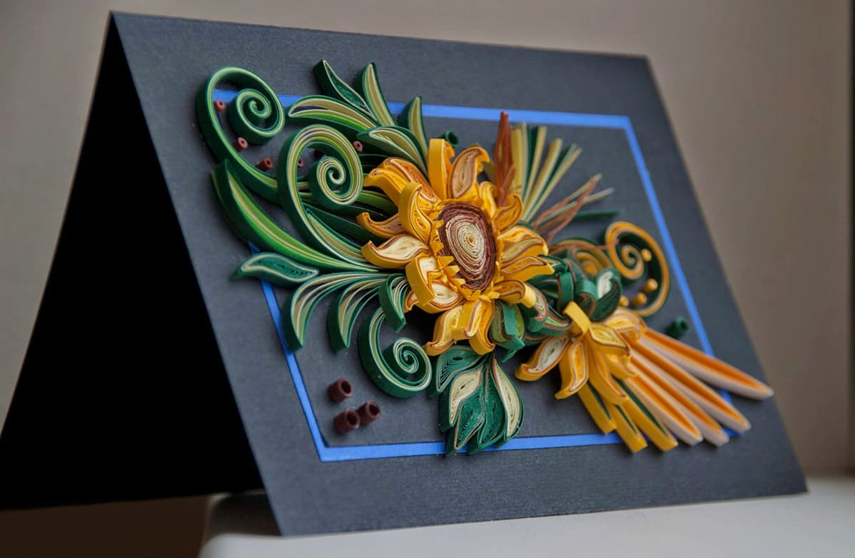 Thiệp sinh nhật quilling