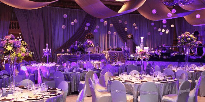 Trang trí tiệc cưới màu tím mang lại sự lãng mạn và thủy chung