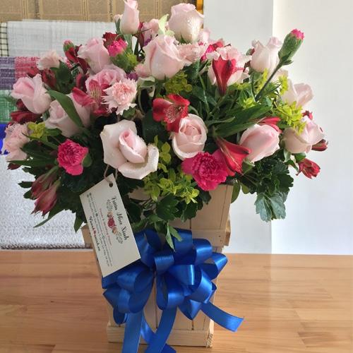 Lẵng hoa sinh nhật đẹp tặng mẹ