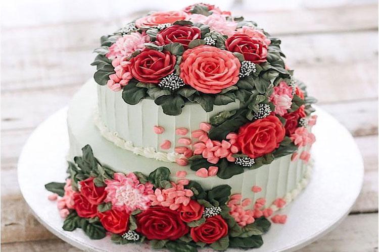 Những mẫu hoa và bánh sinh nhật đẹp nhất