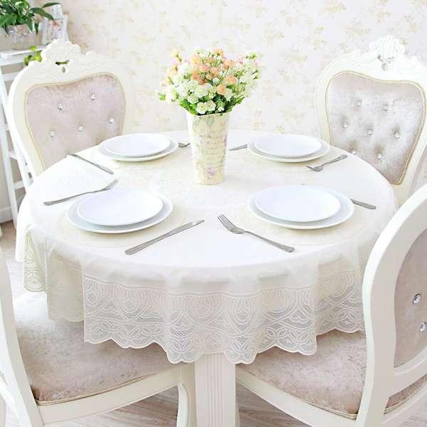 Khăn trải bàn tròn ren