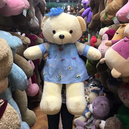 Gấu bông Teddy với váy hoa