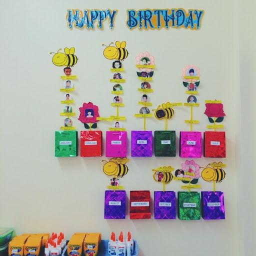 Phông nên trang trí sinh nhật tại trường mầm non